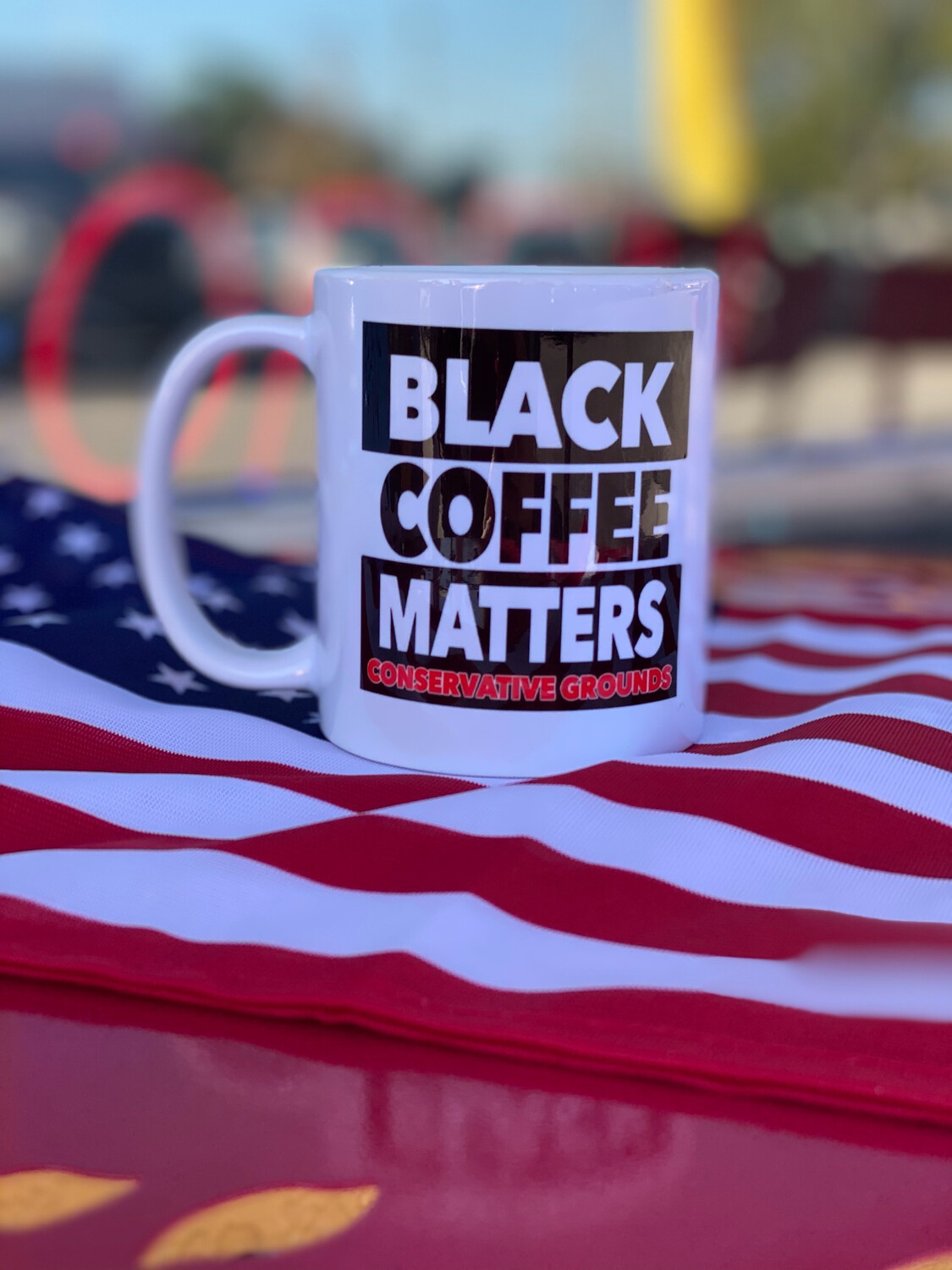 """Black Coffee Matters"" Mug"