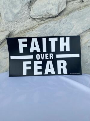 """Faith Over Fear"" Bumper Sticker"