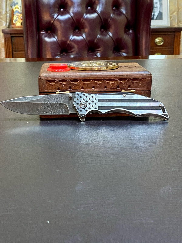 Don't Tread On Me Patriotic Knife