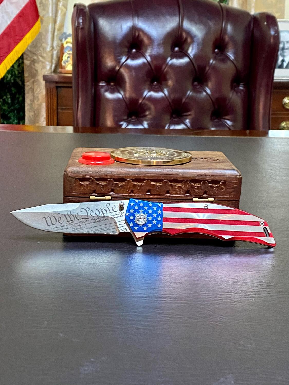 Patriotic We The People Knife