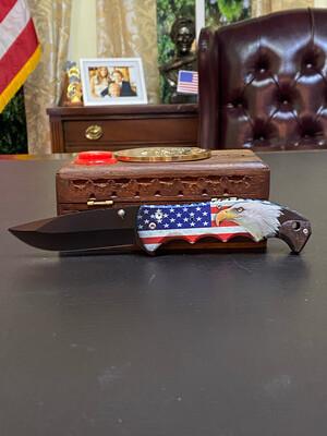 Patriotic Eagle Knife