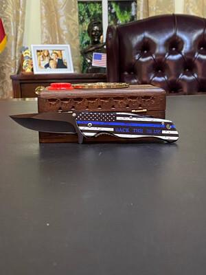 Back The Blue Knife