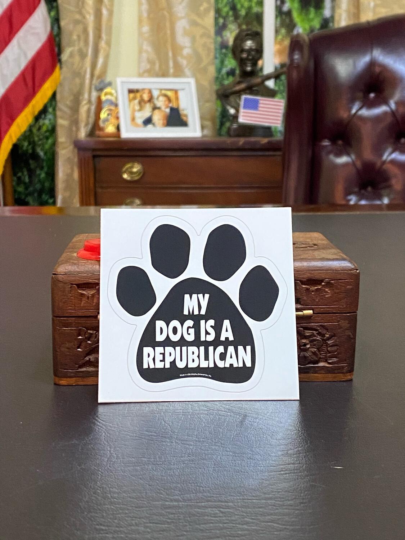 My Dog Is A Republican Bumper Sticker