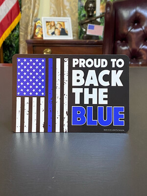 Proud To Back The Blue Magnet
