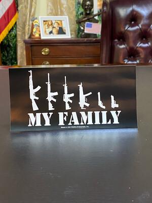 My Family Bumper Sticker