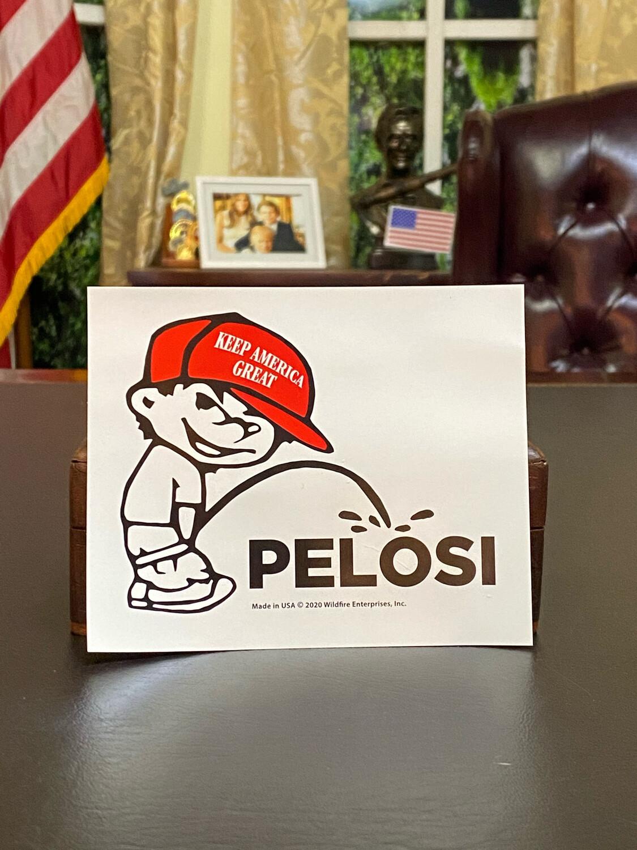 Piss On Pelosi Bumper Sticker