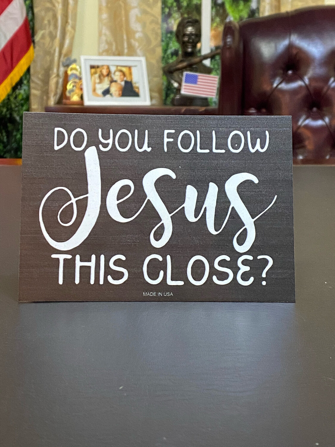 Do You Follow Jesus This Close Bumper Sticker