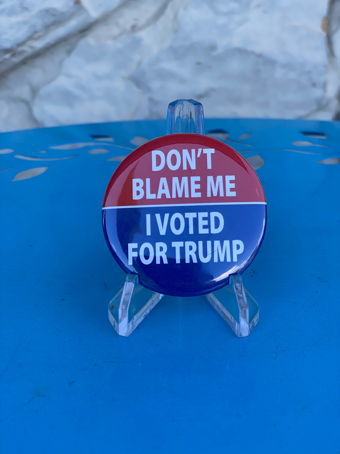 Don't Blame Me I Voted For Trump Button