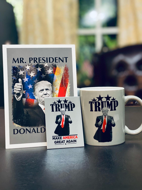 Mug, Magnet, And Post Card Set
