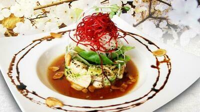 Salmon & Avocado & Basil Pesto Tartare