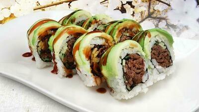 Avocado Beef Teriyaki Roll
