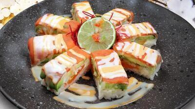 Aburi Smoked Salmon Oshi