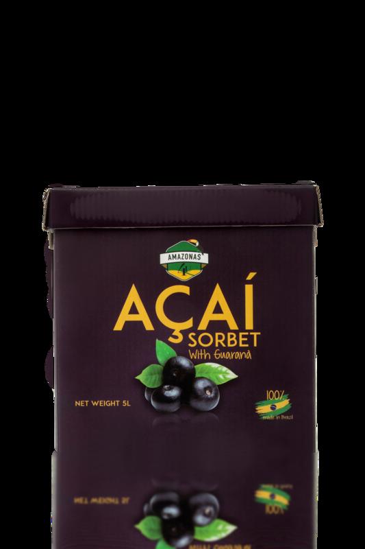 Açaí with Guaranà sorbet