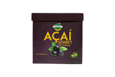 Açaí with Guaranà sorbet (5L)