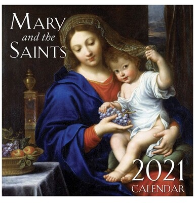 Mary and the Saints 2021 Calendar Tan