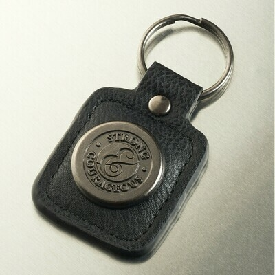 Strong and Courageous - Joshua 1:9 Keyring in Tin