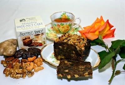 Monastery Fruitcake 1lb Ginger Date Nut Cake