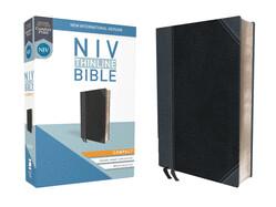 Bible: NIV Thinline Bible Compact - Leathersoft Black/Gray