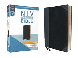 Bible: NIV Thinline Bible Compact - Leathersoft Black/Gray