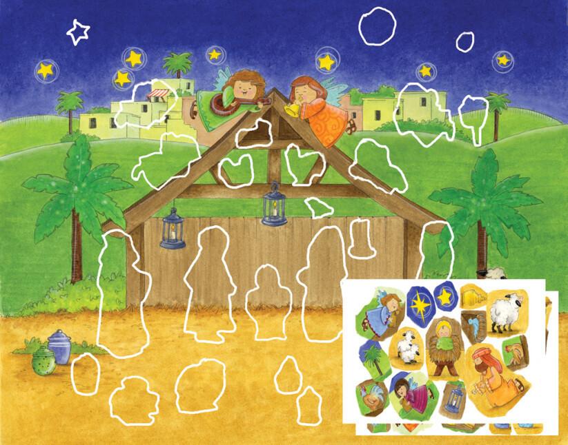 Magnificent Manger Sticker Advent Calendar BB203