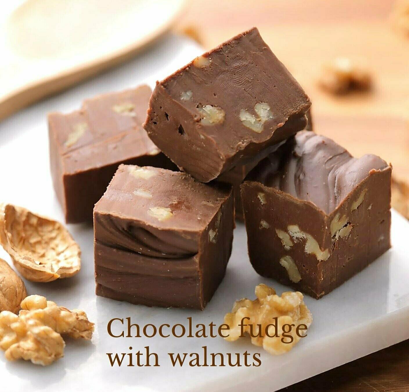 Brigittine Monks Chocolate Fudge w/ Walnuts 12oz