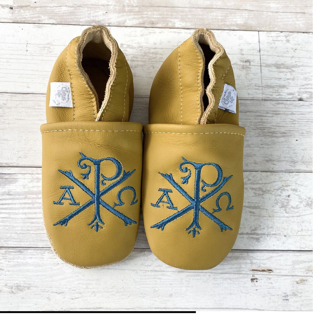 Chews Life Emmaus Crib Shoes - Yellow