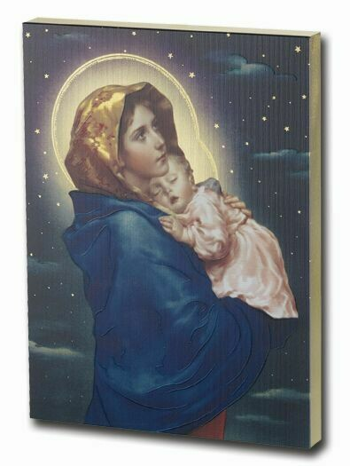 Madonna of the Streets Large Gold Embossed 7.5x10 Plaque 520-203