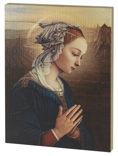 Lippi Madonna Large Gold Embossed Wall Plaque 520-245