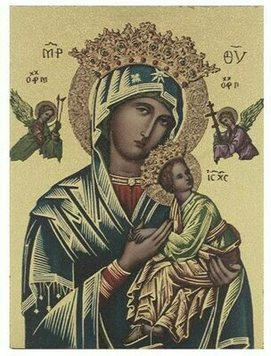 Our Lady of Perpetual Help Large Gold Embossed Wall Plaque 520-208