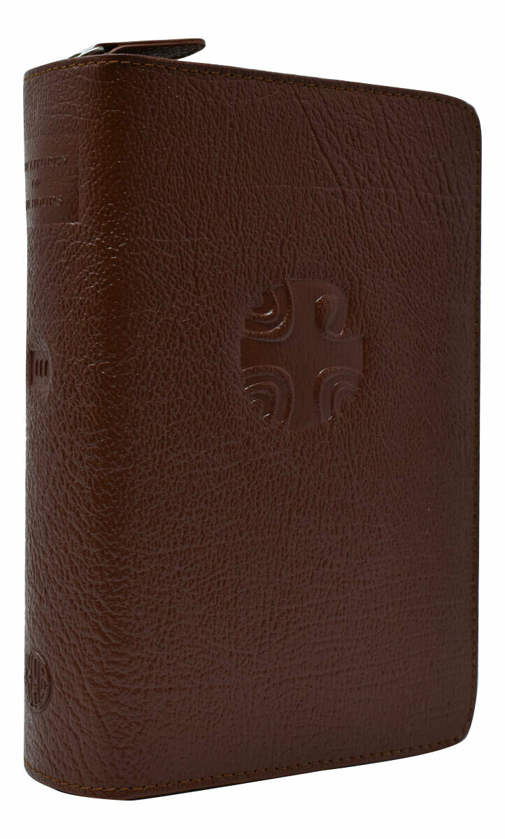 Liturgy of the Hours Brown Leather Zipper Cover Vol 3 403/10lc