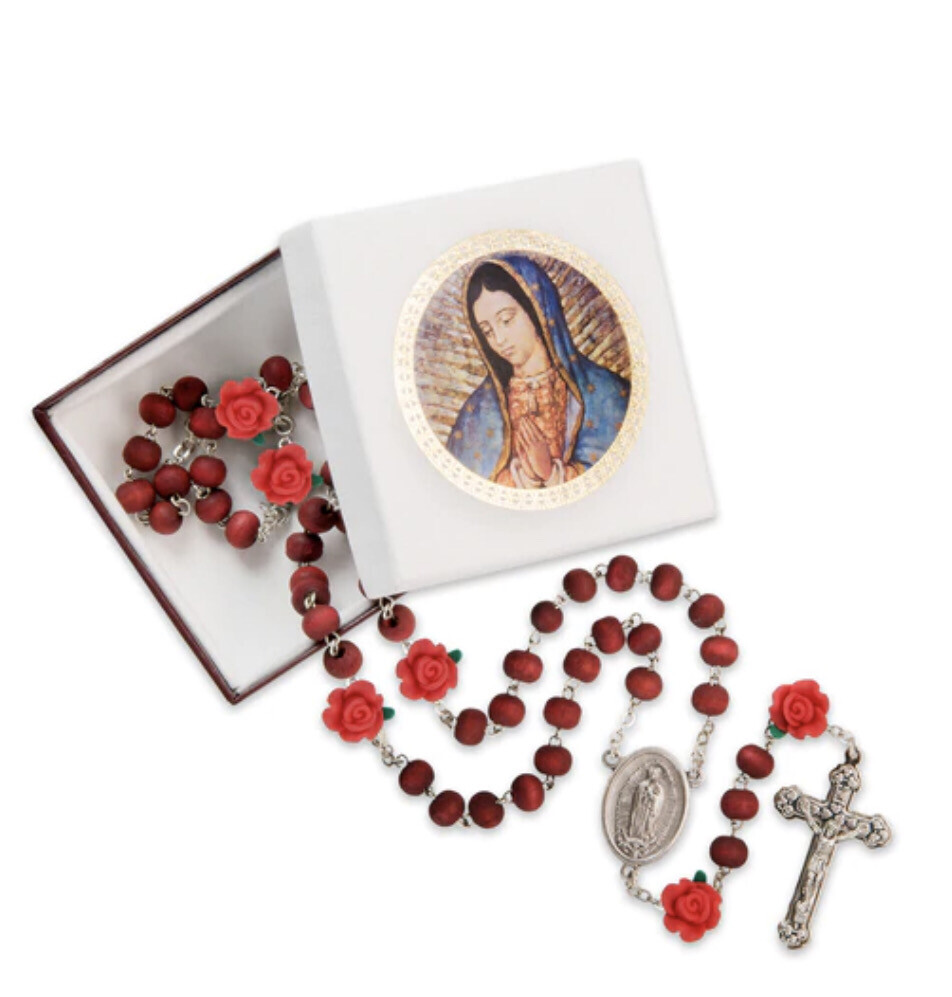 7mm Our Lady of Guadalupe Rosary 1166BX