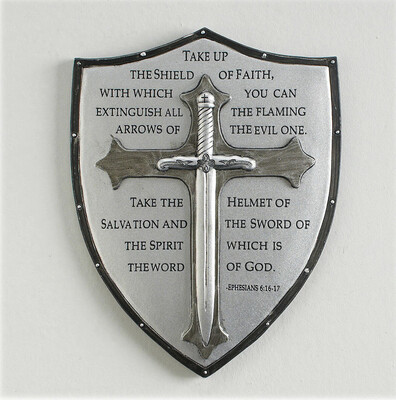 """6.5"""" Armor of God Wall Plaque 60097"""
