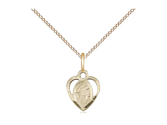 Gold Filled Guardian Angel Pendant 5407 - 3/8 x 1/4