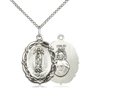 Sterling Silver Guadalupe Medal Pendant