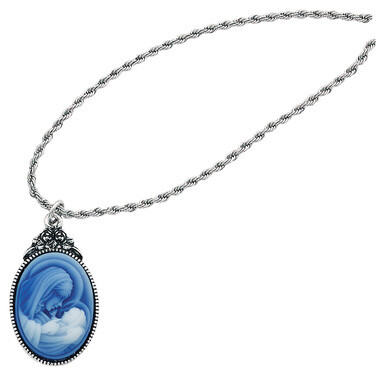Mother/Child Cameo Pendant 18