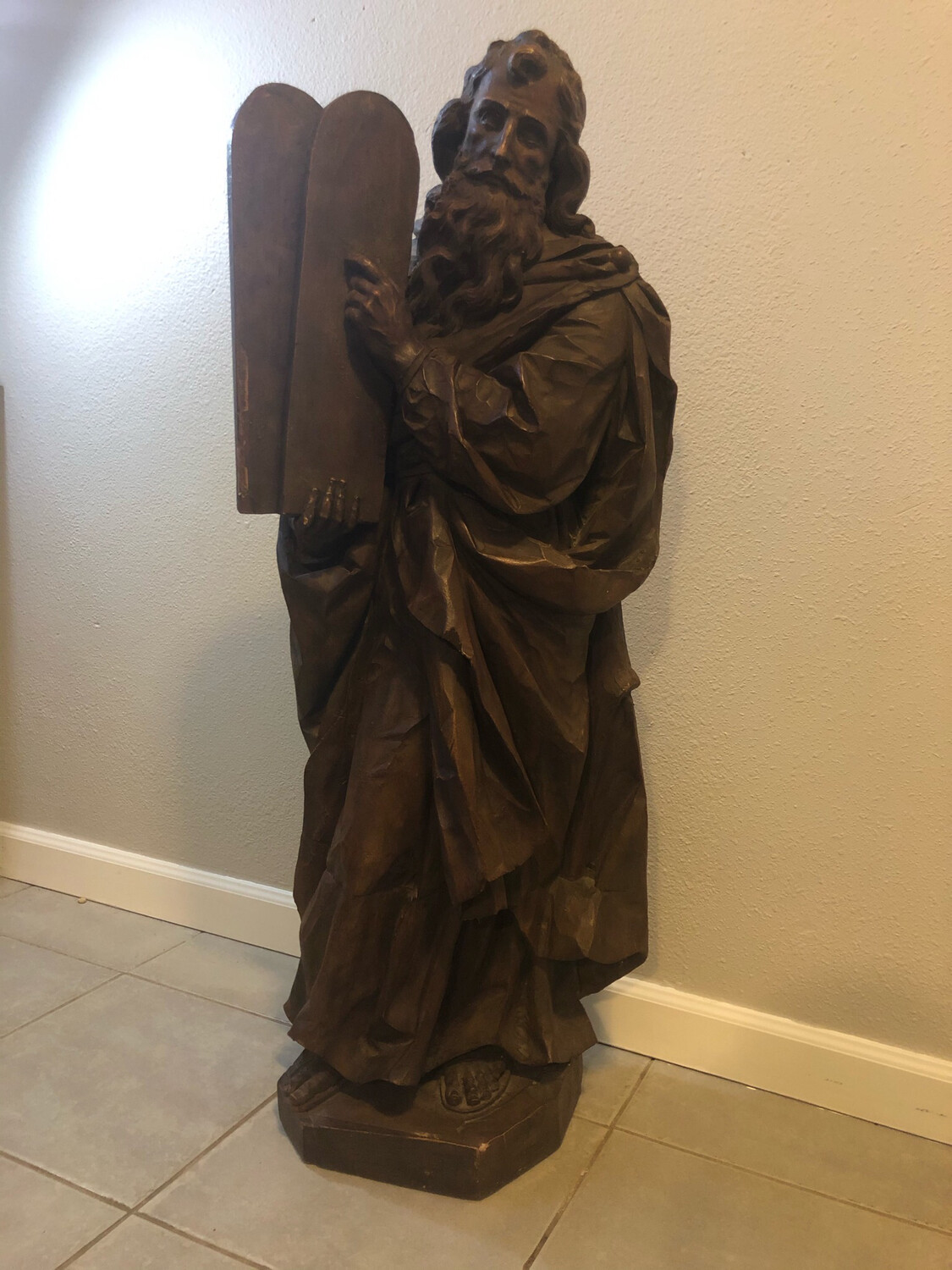 Moses and the 10 Commandments Statue
