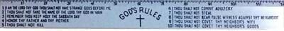 """12"""" Ruler Gods Rules"""