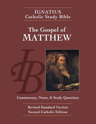 Ignatius Catholic Study Bible: The Gospel According to Matthew (2nd Ed.)