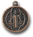 St Benedict Medal Copper