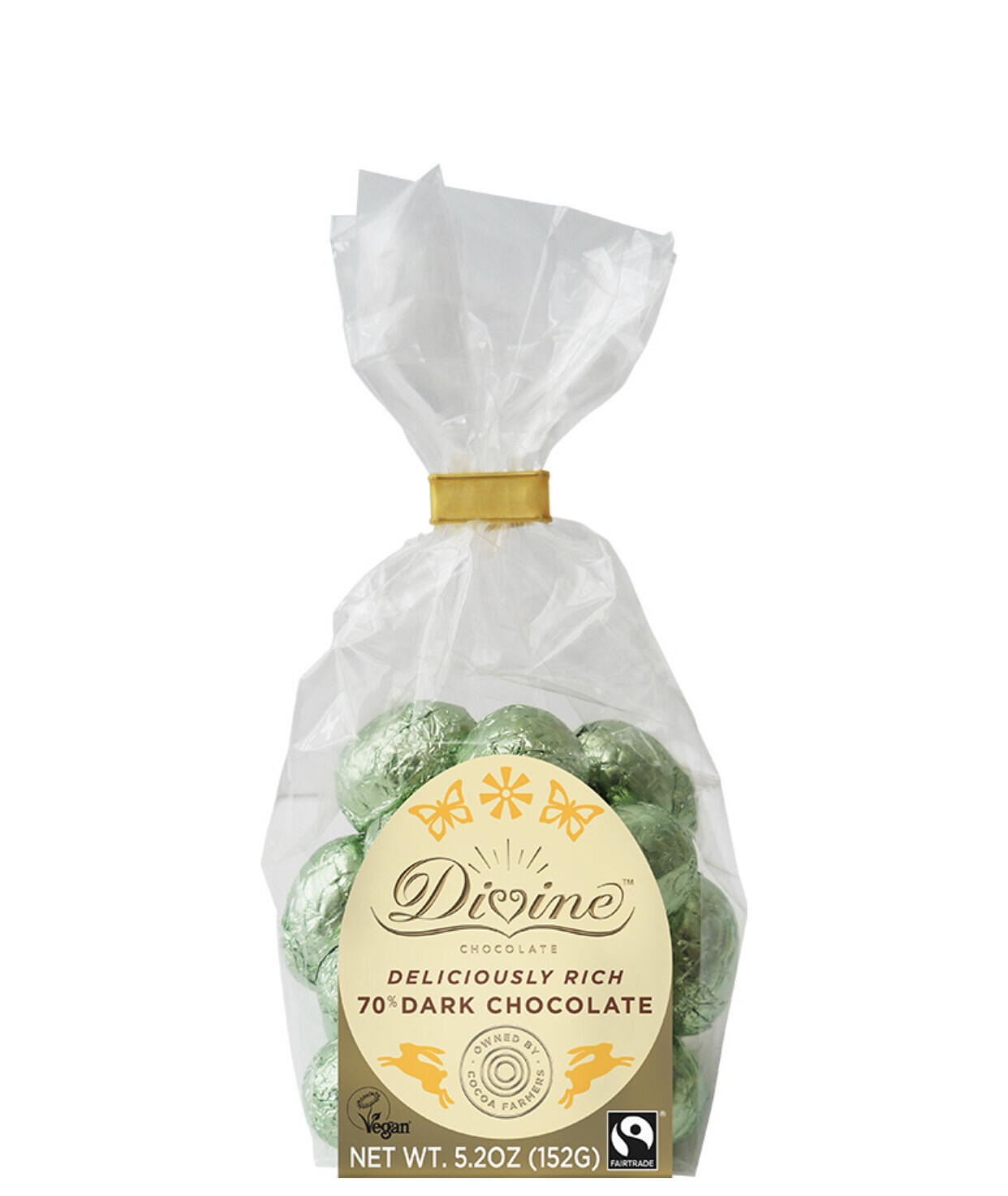 Divine Dark Chocolate Mini Eggs - Vegan