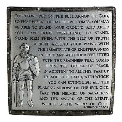 Armor of God Table Plaque 60098