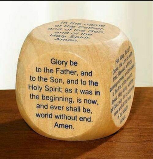 Favorite Catholic Prayer Cube