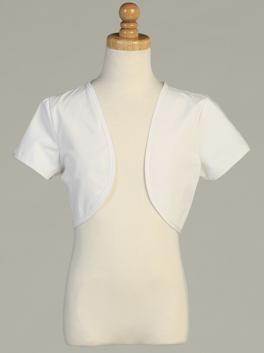 White Bolero Short Sleeves