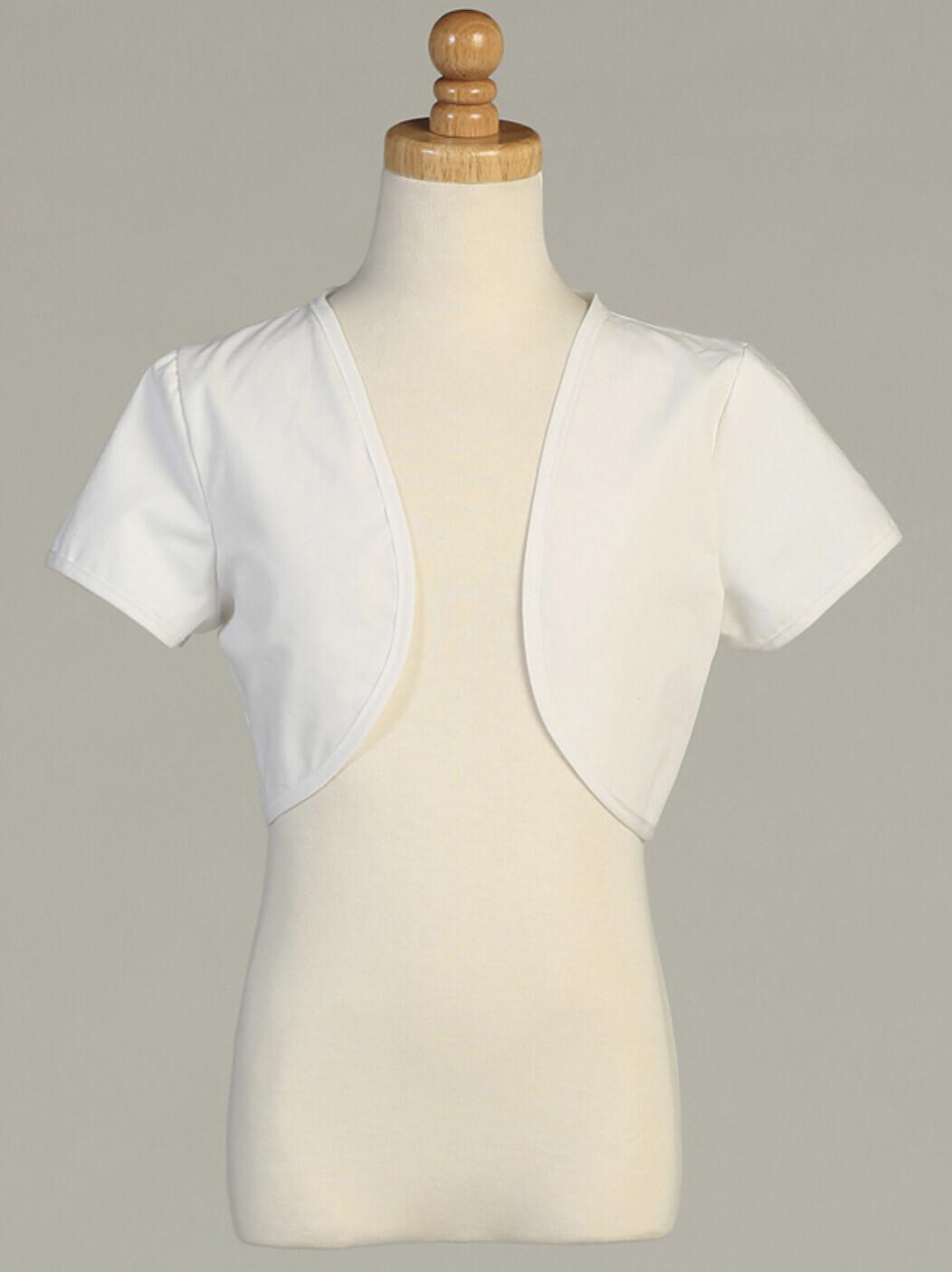 White Bolero Short Sleeves
