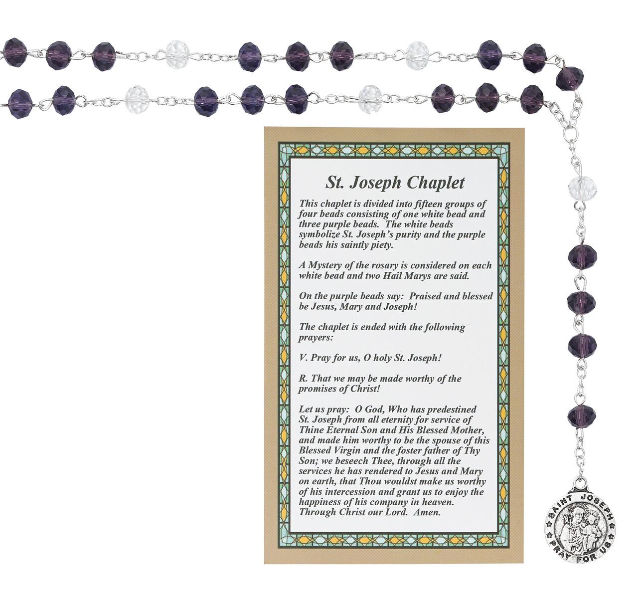 St Joseph Chaplet Carded
