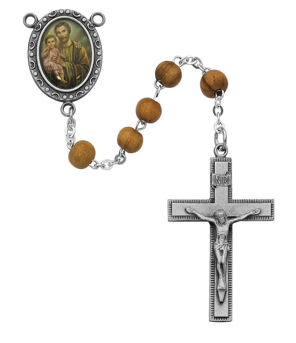 Olive Wood St Joseph Rosary