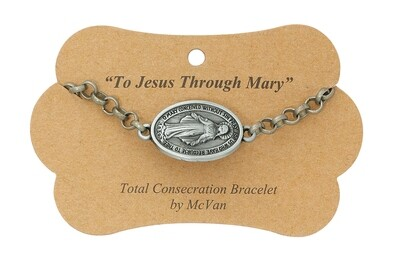 """7.5"""" Total Consecration to Mary Medal Bracelet"""