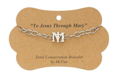 """7.5"""" Total Consecration to Mary M Bracelet"""