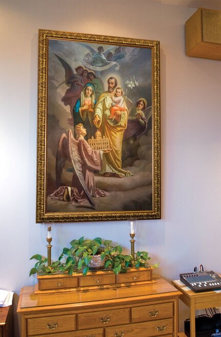 St Joseph Patron of the Church - Church-Sized Framed Canvas