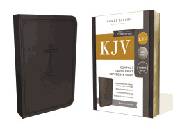 KJV, Reference Bible, Compact, Large Print, Imitation Leather, Black, Red Letter Edition - Large Print